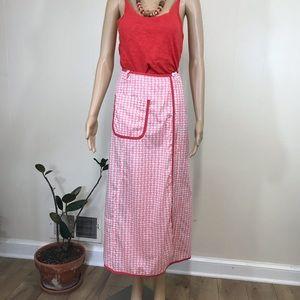 Rare ORLA KIELY Little Pink Houses Wrap Skirt!
